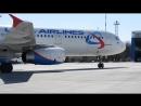 Комфортабельный лайнер Airbus A-321 «Уральских авиалиний» (первый рейс «Воронеж-Анталья» в новом курортном сезоне 2018 года)