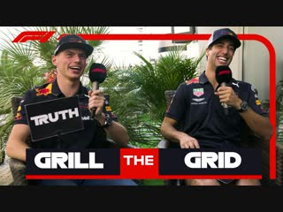 Red Bull's Daniel Ricciardo and Max Verstappen | Grill the Grid: Truth or Lie?