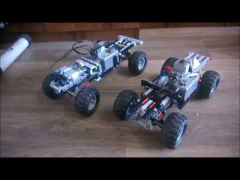 Comparing the Lego technic RM8 chassis to the Shesterenkin SUV chassis