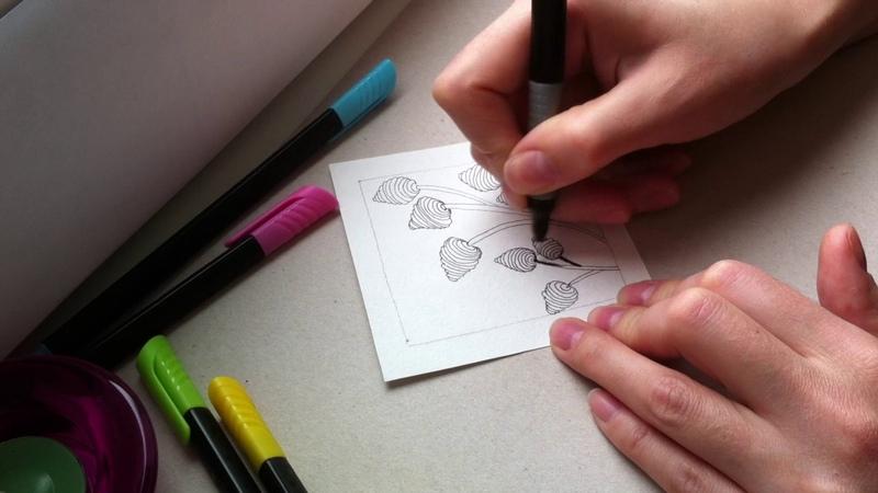 3 урок по рисованию. (Зентангл. Дудлинг. Раскраски антистресс.)