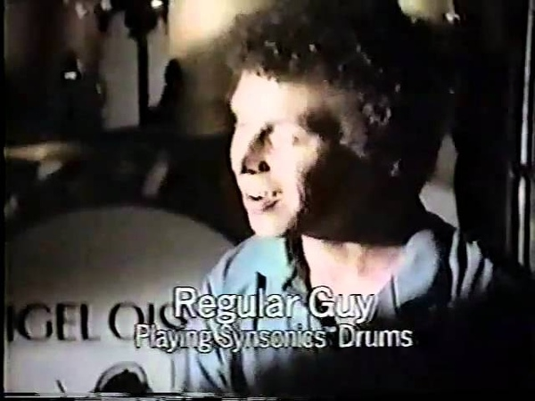 1982 Nigel Olsson Mattel Synsonics Electronic Drums Commercial