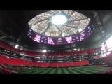 Это не трейлер новых «Трансформеров», а крыша великолепного «Мерседес-Бенц Стэдиум» в Атланте