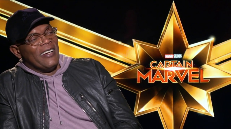 Samuel L Jackson Captain Marvel Raw Interview