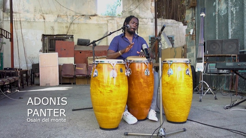 Adonis Panter Calderón Ossi Percussion birch congas, Havanna 2018
