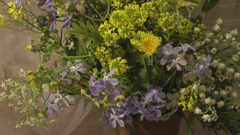 Картина маслом поэтапно Букет полевых цветов.Bouquet of wild flowers. Picture