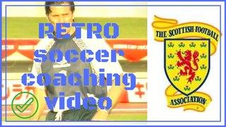 retro soccer coaching video