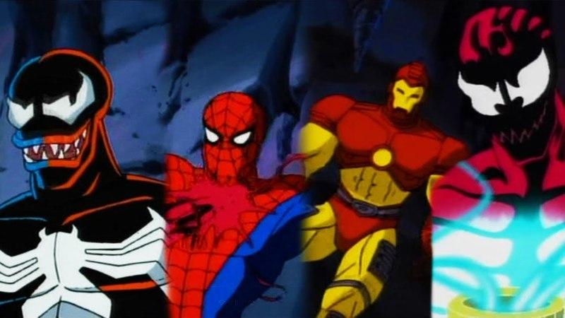 Человек паук, Железный человек и Веном против Карнажа, Мордо и Дормамму (1994 Мультсериал)