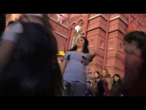 Mundial 2018. Бразильская группа на Красной площади 28.06.2018 - Ai Se Eu Te Pego