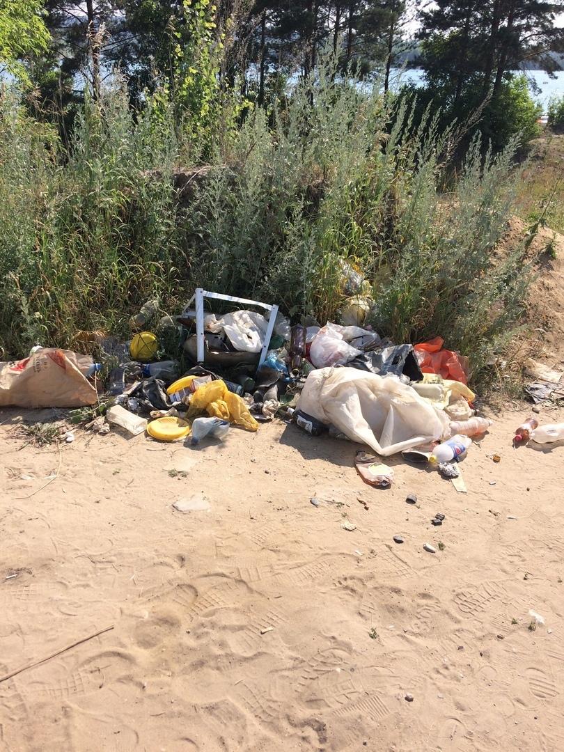 Томичи сообщают о свалках на городских водоемах