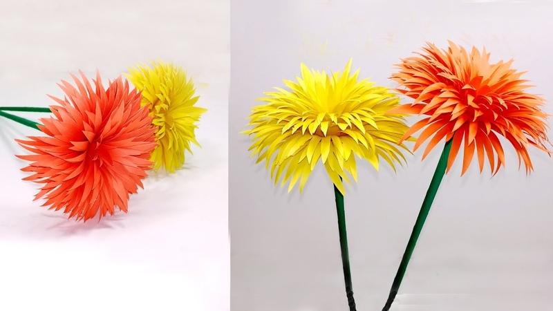 How to Make Beautiful Paper Stick Flower | DIY: Stick Flower Homemade | Jarine's Crafty Creation