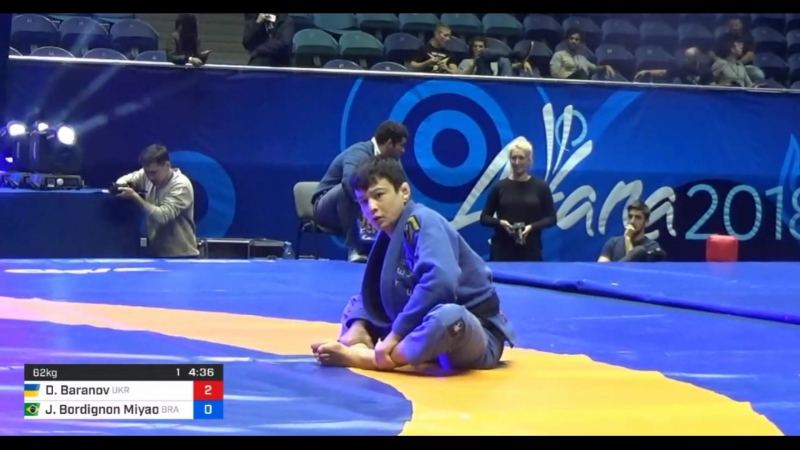 Баранов - Мияо Uww grappling world 2018 bjf_grappling