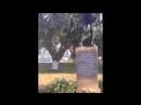 В Харькове школьник помочился с мемориальной плиты, посвящённой девятнадцати расстрелянным