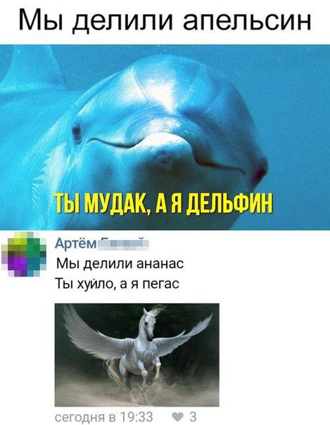 Пошел ты нахуй мудак дельфин
