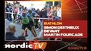Biathlon Simon Desthieux devant Martin Fourcade