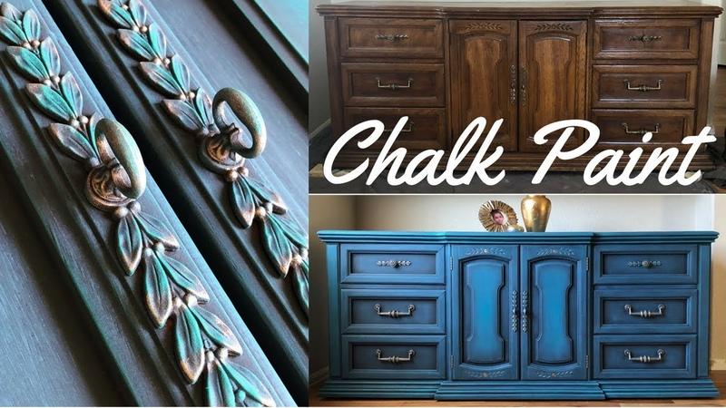 DIY Dresser Makeover w Annie Sloan Chalk Paint Aubusson Blue