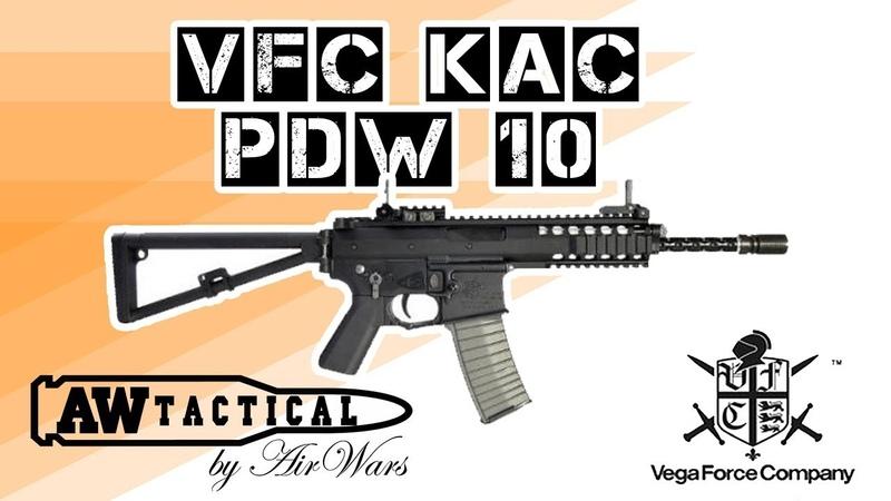 Страйкбольный автомат VFC KAC PDW 10 ДЮЙМОВ VF1-LKPDW-BK01