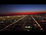 Приземление в Лос-Анджелесе (вид из кабины пилота)