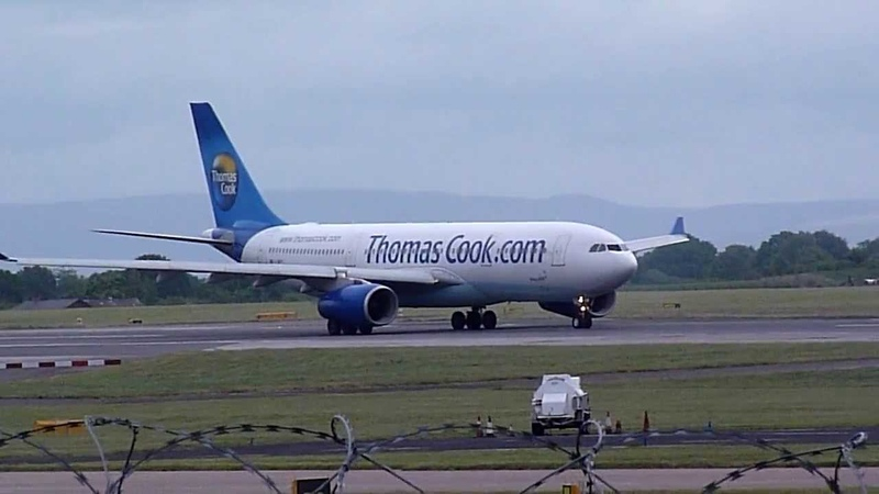 Amazing - Engine Failure Thomas Cook A330 200 at Manchester Airport