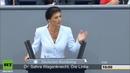 Сара Вагенкнехт Только больной может утверждать что Путин захватит Берлин Голос Германии