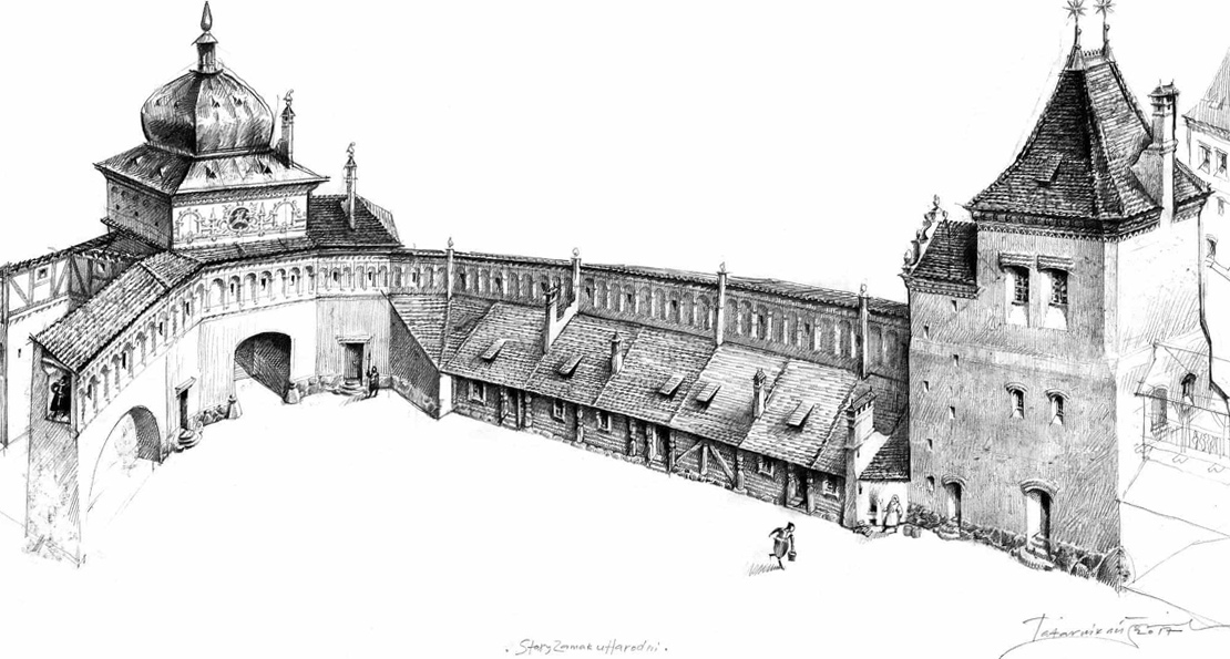 Двор замка в Гродно