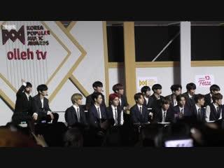 fancam 181220 NCT 127 Reaction to Red Velvet @ KPMA 2018