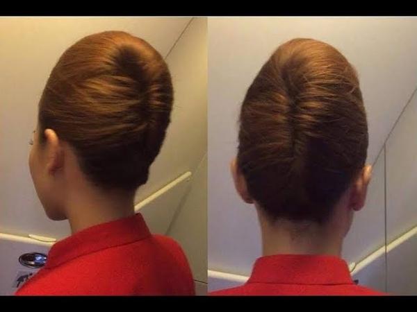 Beautiful, berbagai sanggul cantik ala pramugari, mudah simple - Flight Attendant Hairstyles