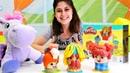 Ayşe ve prenses Sofia Play-Doh berber seti ile oynuyorlar