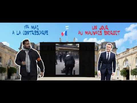 Macrologero Alexandre Benalla feat Calogero 1er mai à la Contrescarpe