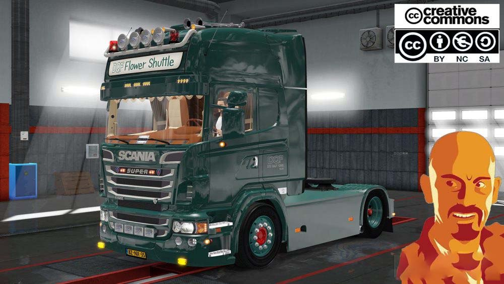 SCANIA DQF FLOWER SHUTTLE (RECOVERED)