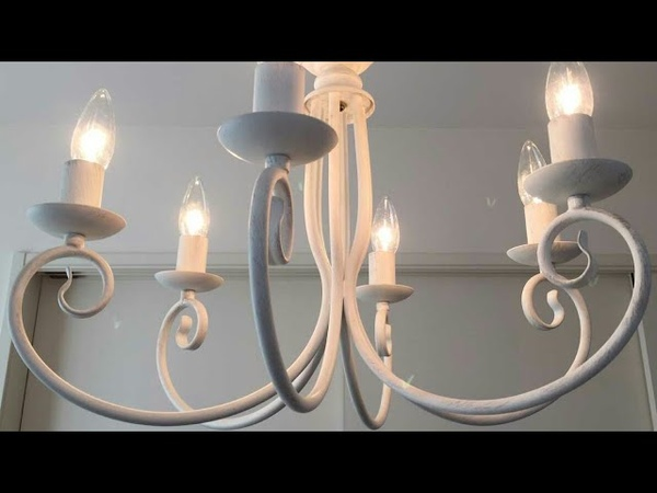Lampara decorativa para el hogar en hierro forjado y cobre. Garcia 08