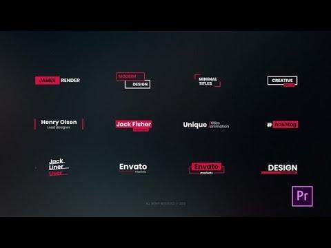 20 Simple Titles MOGRT   AF Templates   videohive