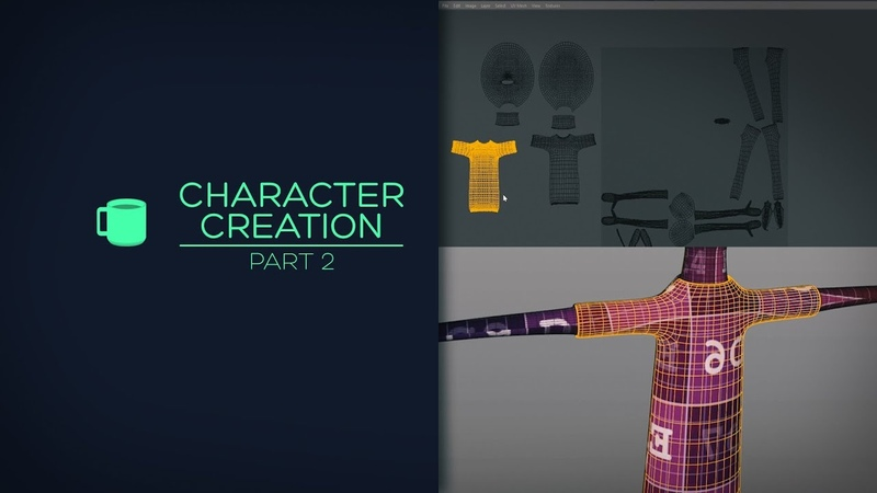 Character creation with Cinema 4D - Part 2 (UV Unwrapping)