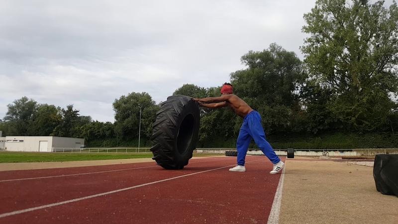 Gugu Quilombola 2 Hard training Tractor Tire - treino com pneu de trator pra Capoeira