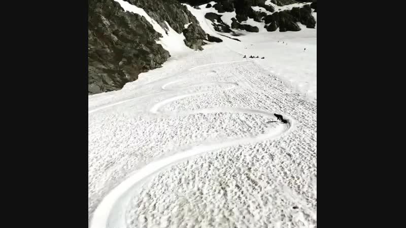 Летние забавы на леднике в Альпах сноуборд сноубординг - Зона Экстрима 193 vk.com/sport_life_24