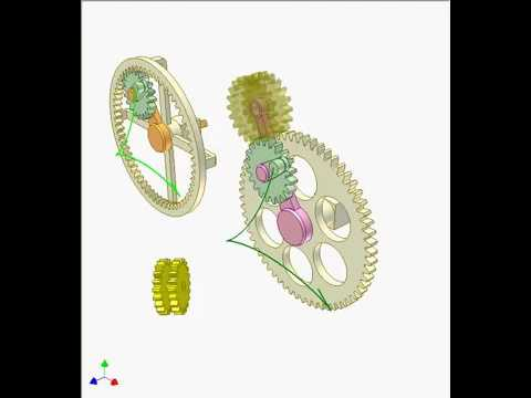 Механизмы с внутренними и внешними шестернями