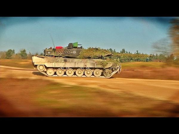 Panzer im Trainingslager Deutsch Amerikanisches Manöver Bundeswehr