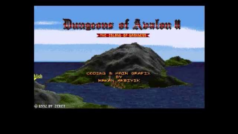 Old School {Amiga} Dungeons of Avalon II The Island of Darkness ! FULL OST SOUNDTRACK