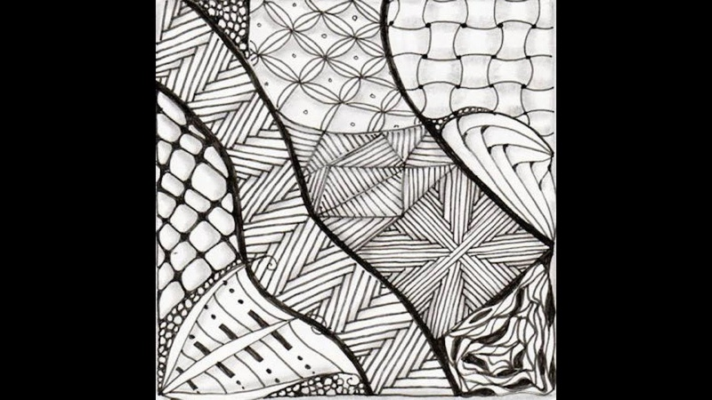 Развод Hibred 1-29, Weekly Zentangle® August 10-16, 2015