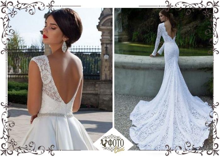 8ee326fce3e Необычное решение - свадебное платье с открытой спиной