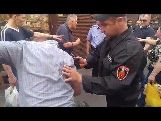 В Киеве на рынке возле метро «Лесная» обезьяноподобные (грузины)