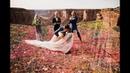 Wedding on pentagon space net in Moab Utah