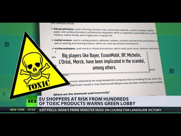 From cancer to brain disorders EU shoppers in contact with TOXIC chemicals on daily basis