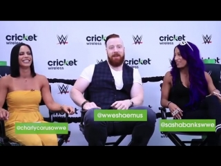 SB_Group| Behind-the-scenes peek at our live Q&A + meet and greet with Sasha Banks and Sheamus