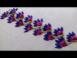 Easy Border Design Hand Embroidery Work