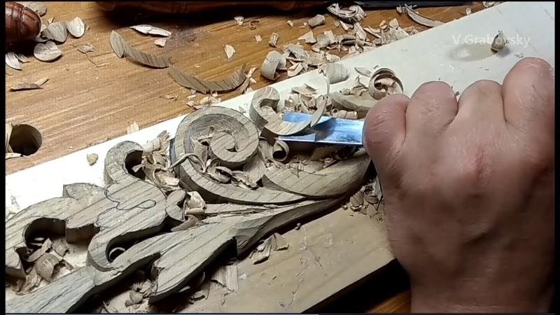 Woodcarving. Ручная резьба по дереву. Резьба по дубу