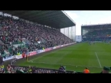 17,000 singing Sunshine on Leith at Easter Road after