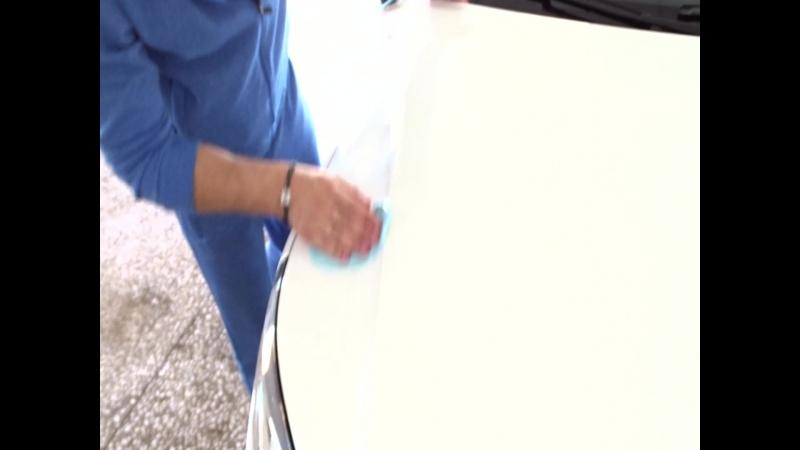 Volkswagen Tiguan-чистка голубой глиной-удаление налета и дорожных реагентов.