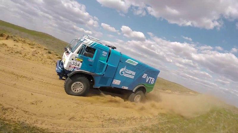 Новый газодизельный грузовик КАМАЗ-мастера. Испытания в Астрахани.