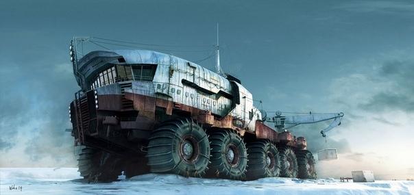 Последний поход Командора К утру метель улеглась. Небо умылось, выпуская солнце, и Командор решил двигаться дальше. Взрыкивая двигателями вездеходы спустились на лёд замерзшей Оки и куцым