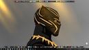 [4K] Wallpaper Engine - Black Panther : Dark Gold